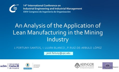 14th International Conference on Industrial Engineering and Industrial Management
