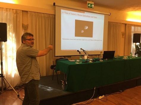 Presentació de Josep Maria Cors en el 7th International Meeting on Celestial Mechanics (Itàlia)