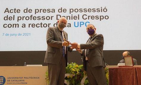 Daniel Crespo pren possessió com a rector de la UPC, el 7 de juny