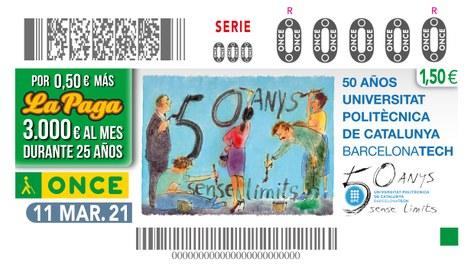El 50è aniversari de la UPC, en 5,5 milions de cupons de l'ONCE