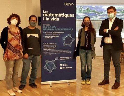 """El Parc de la Sèquia, la UPC i BBVA renoven la col·laboració per l'exposició """"Les matemàtiques i la vida"""" fins el 2021"""