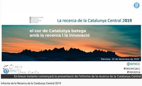 Els indicadors de la recerca de la Catalunya Central continuen en augment i aporten 13,6 milions d'euros al territori