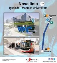 Nova línia bus Igualada - Manresa Universitats