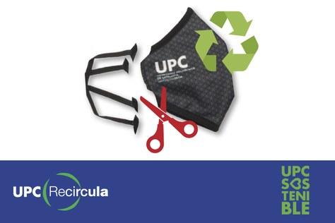 Porta a reciclar la teva mascareta UPC i bescanvia-la per una de nova
